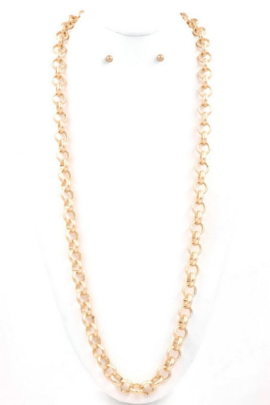 Thick Gold Link Necklace - Sophie