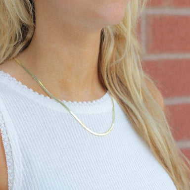 Nikki Smith Designs Skinny 14K Gold Herringbone Necklace Accessories - Jewelry - Necklaces - Sophie