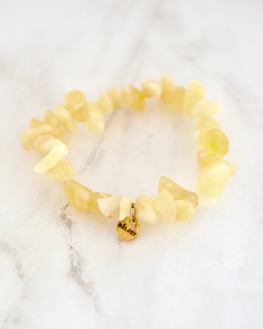 Beljoy Haiti Bambo Bracelet in Washed Yellow Accessories - Sophie