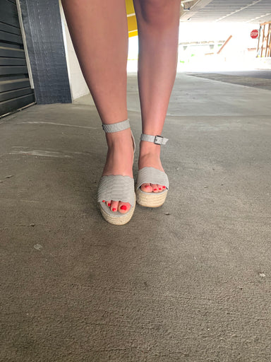 Sophie Everlyn in Light Grey Shoes - Sophie