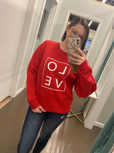 LOVE Graphic Fleece Sweatshirt - Sophie
