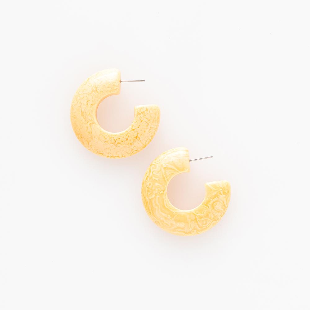 Resin + Acetate Small Hoop Earring - Sophie