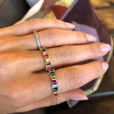 Nikki Smith Designs Rainbow Adjustable Ring Accessories - Jewelry - Rings - Sophie