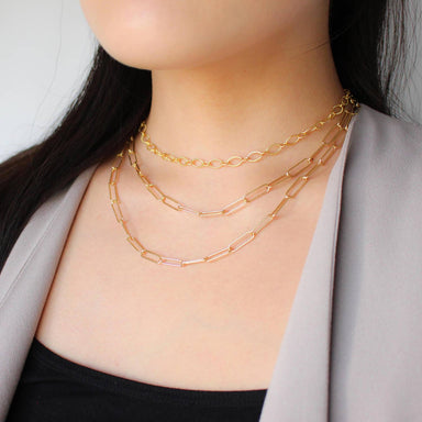 Nikki Smith Designs Sasha Double Chain 14K Necklace Accessories - Jewelry - Necklaces - Sophie