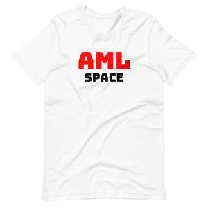 Short-Sleeve, White AML Space, Unisex T-Shirt