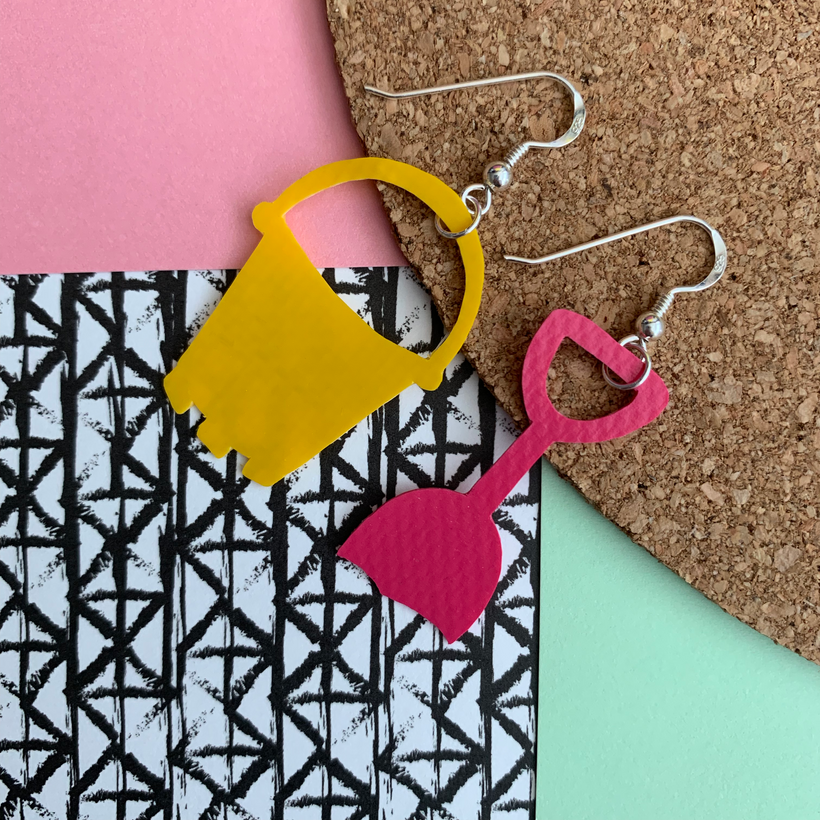 Bucket and Spade earrings