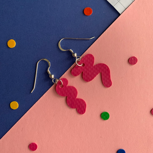 Squiggly earrings