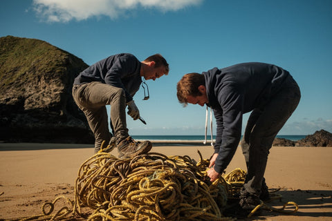 harry and gavin collecting nets