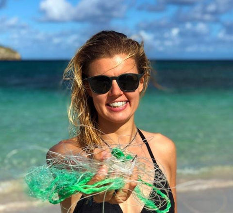 Model with Sunglasses and Net