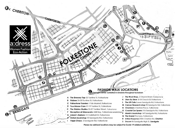 a dress fashion walk map