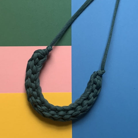 CURVE Necklace : Deep Teal - Stellen UK