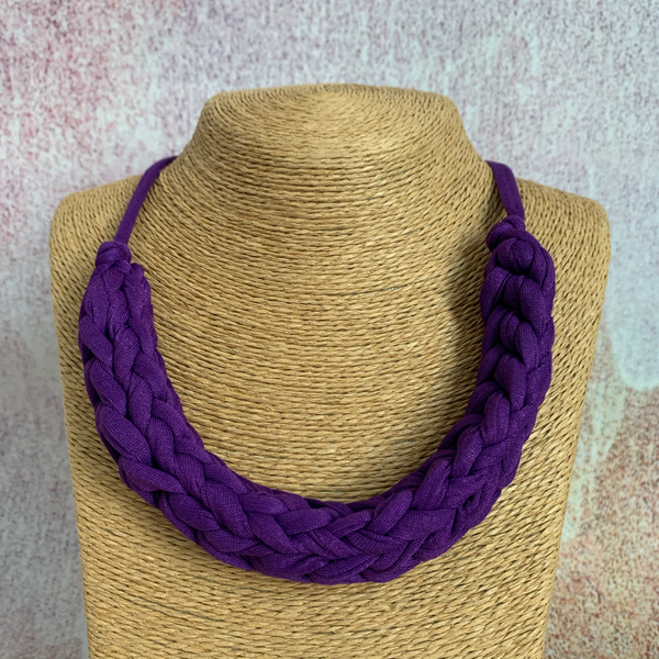 CURVE necklace: Fizz Purple - Stellen UK