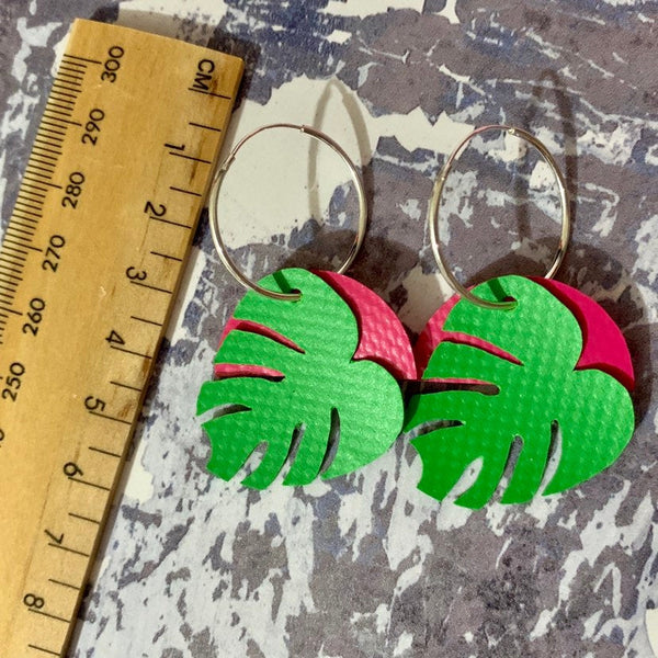 LEAF Earrings: I was a bouncy castle : green - Stellen UK
