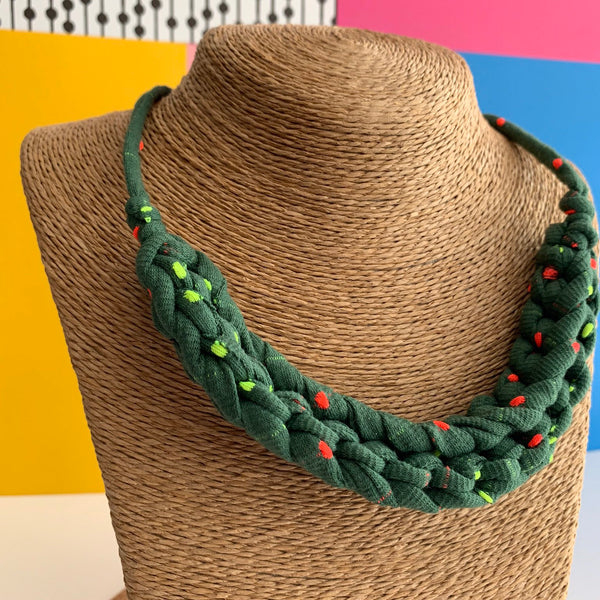 CURVE necklace : Sprinkled Olive - Stellen UK