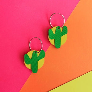 CACTUS Earrings : I was a bouncy castle : green - Stellen UK