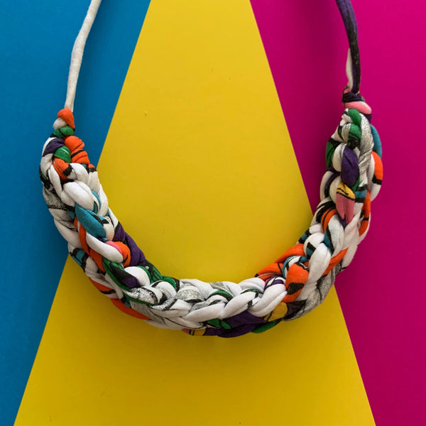 CURVE necklace: GLITCH sparkle - Stellen UK