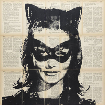 Julie Newmar Catwoman Painting