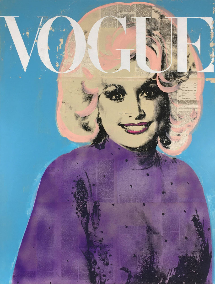 Vogue Magazine Dolly Parton Painting