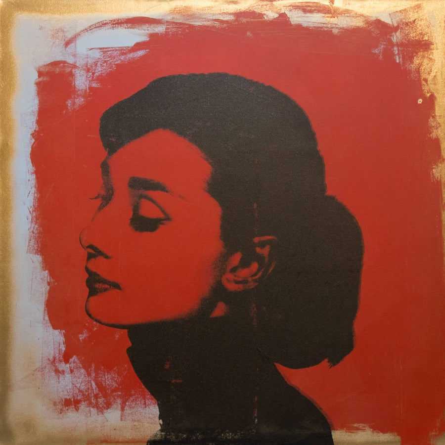 Audrey Hepburn Red X Gold