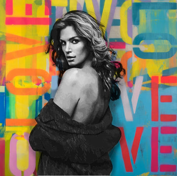 Cindy Crawford - Pop Art Graffiti Art