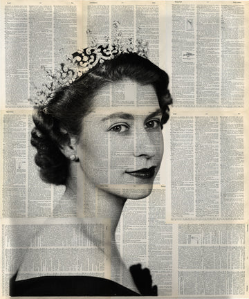 Commission of  Queen Elizabeth II Portrait 24x24 inch