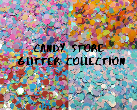 Candy store glitter collection