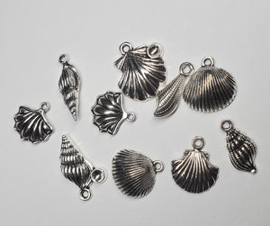 Sea shell charms for keychains
