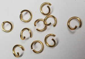 Gold open ring for keychain or jewerly making