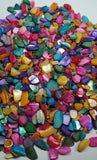 Natural gravel for jewerly and resin