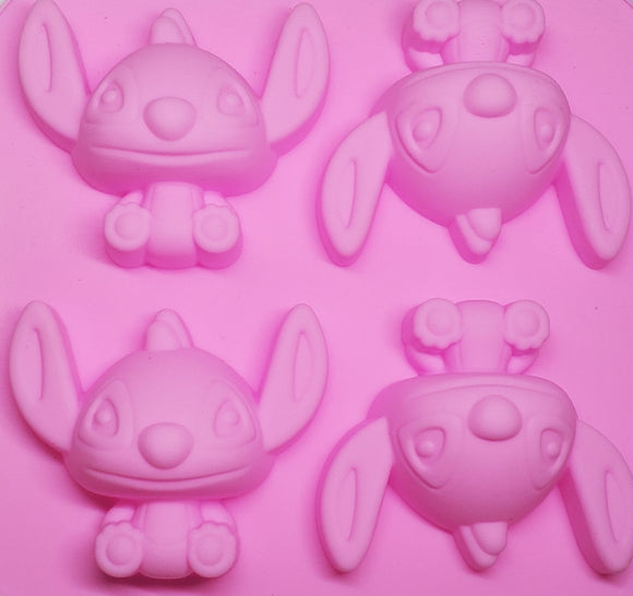 Stitch silicone mold for keychain and jewerly making