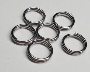6 rings for dog tags or jewerly making