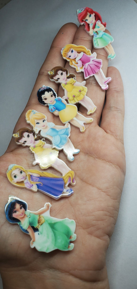 8 pieces resin baby princess