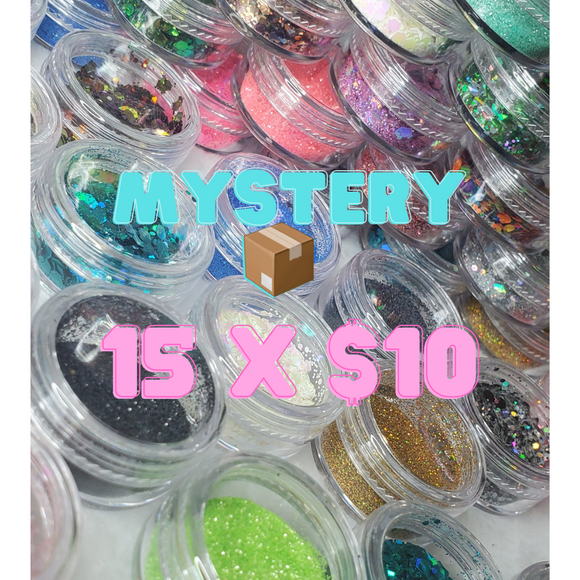 Mystery box of assorted glitters