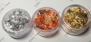 Gold, silver and copper soft flakes