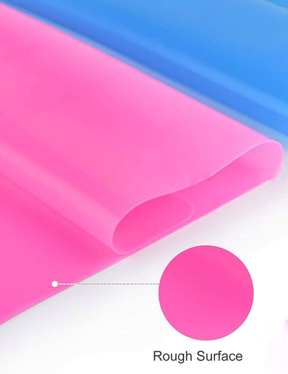 Hot pink silicone mat for jewerly making
