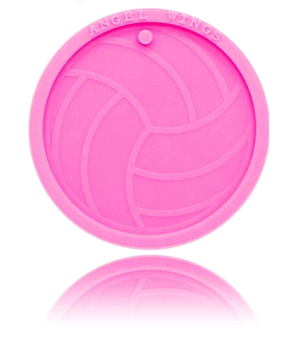 Volleyball keychain or ornament silicone mold
