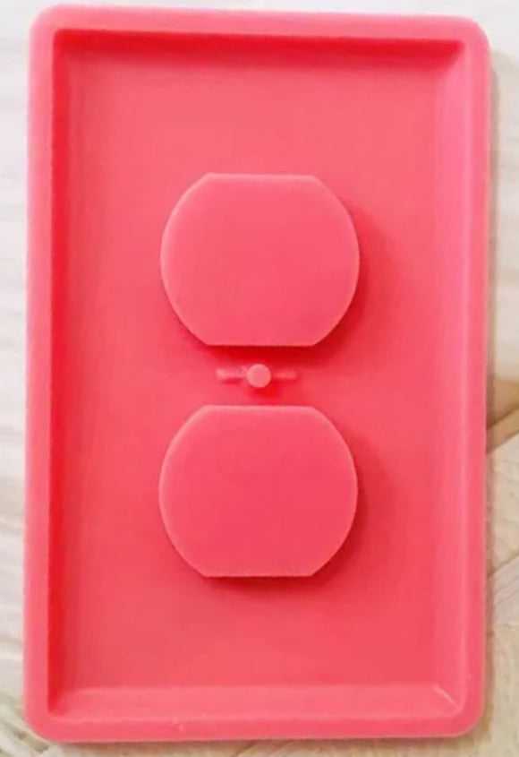 Electric outlet cover silicone mold