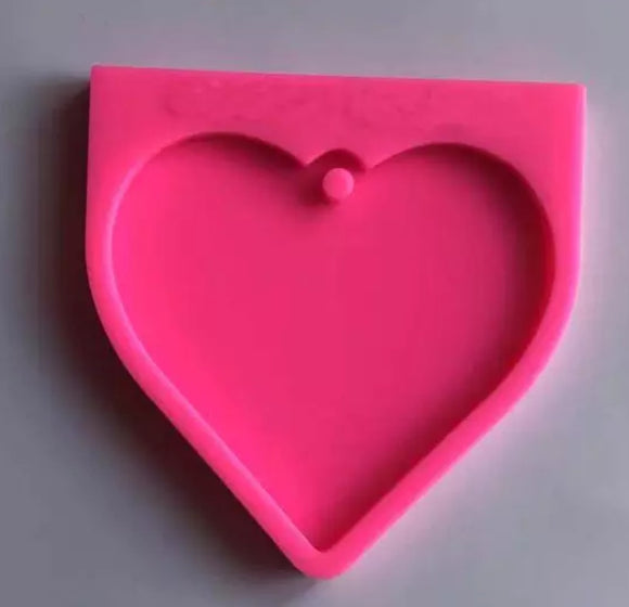 Big heart silicone mold for ornament or keychain