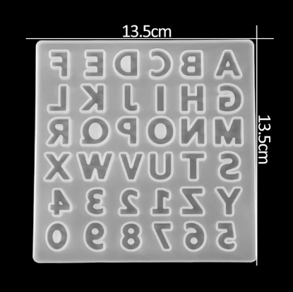 Small alphabet silicone mold for jewerly making