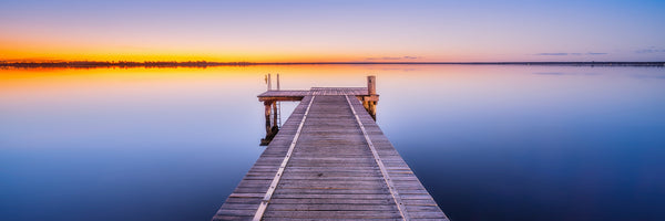 Jetty at Lake Bonney in South Australia
