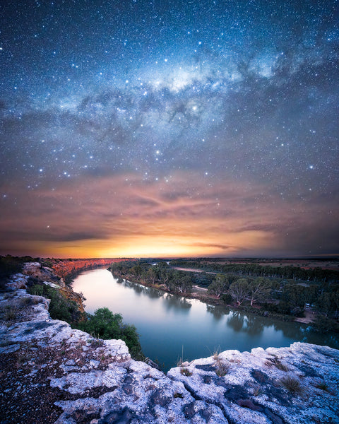The Milky Way over the Murray River in South Australia