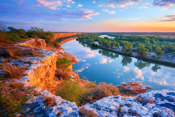 The Murray River at Big Bend, South Australia