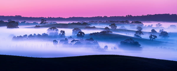 Misty valleys in the Adelaide Hills, South Australia