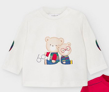 Load image into Gallery viewer, Red and White Bear Long Sleeve Shirt Set