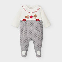 Load image into Gallery viewer, Bright White and Grey Onesie Sleepwear