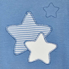 Load image into Gallery viewer, Stars Pajama and Bib Set for Newborn Boy