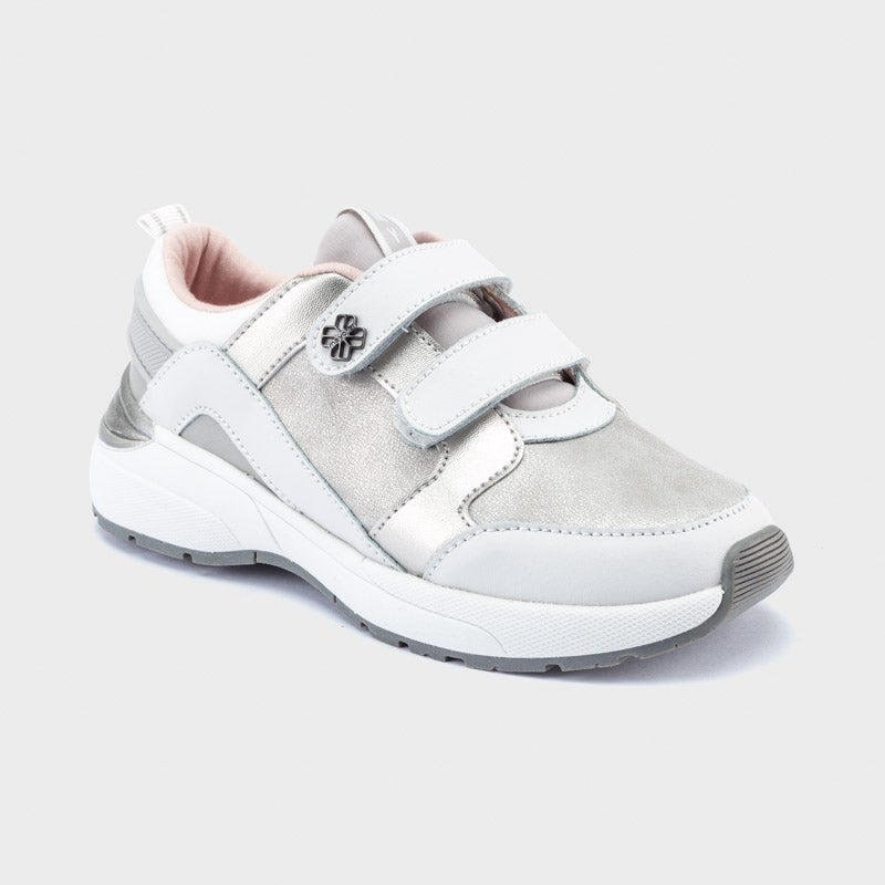 Silver Fashion Sneakers