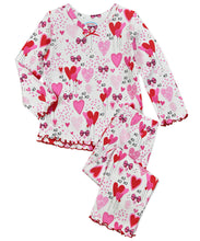 Load image into Gallery viewer, Girls Ruffle Top and Pant Pajama Set