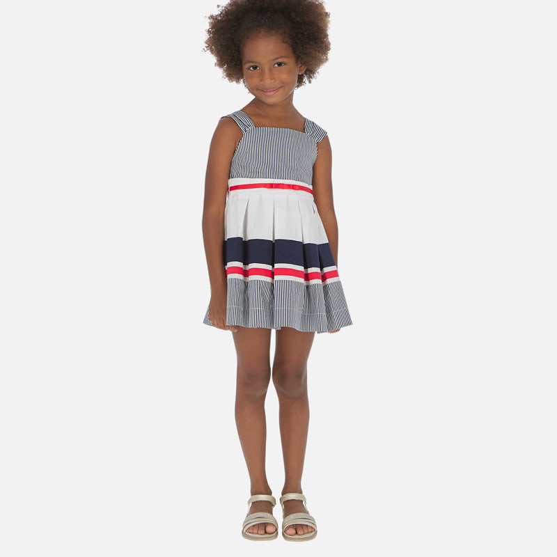 Navy Striped Dress - Size 7