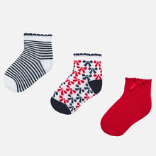 Load image into Gallery viewer, Bows and Stripes Baby socks